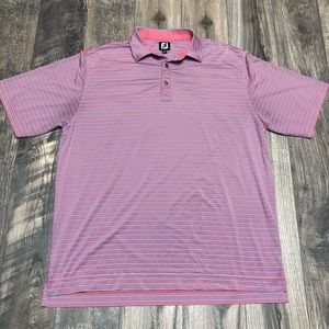 Footjoy FJ striped short sleeve polo
